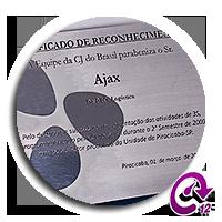 Ícone Certificado de Reconhecimento em Aço Ajax