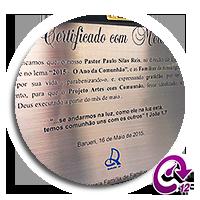 Ícone Certificado em Aço